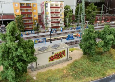 "Plastico Ferroviario ""Una moderna cittadina tedesca"""
